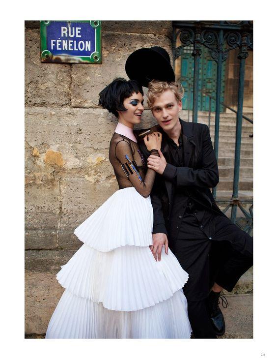 Magda Laguinge & Gerhard Freidl by David K. Shields for Black Magazine