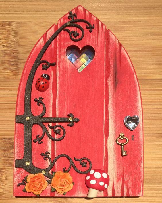 Oaktree fairies the welsh fairy door company scarlet for Red elf door