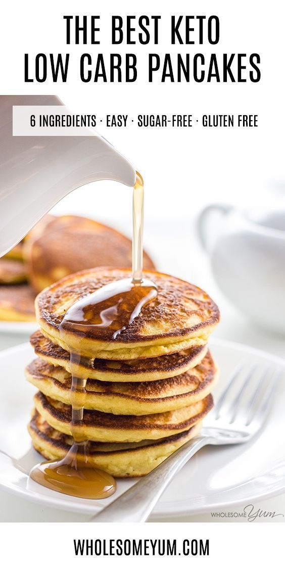 Keto Low Carb Pancakes With Almond Flour Coconut Flour Paleo Gluten Free These 6 In Low Carb Pancakes Low Carb Pancake Recipe Low Carb Breakfast Recipes