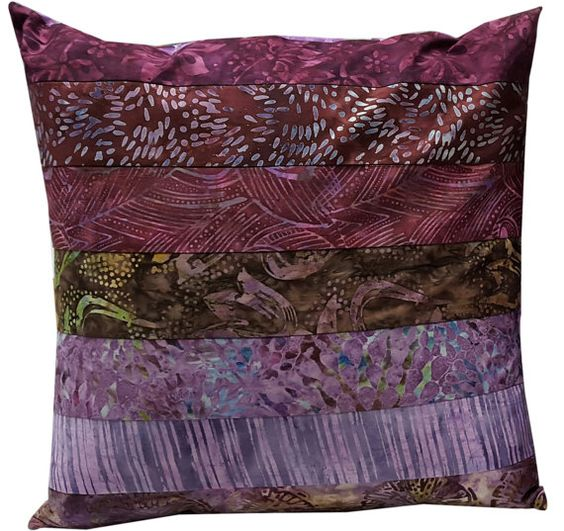 16 inch Pillow Sham Cover in Shades of Purple by Sieberdesigns