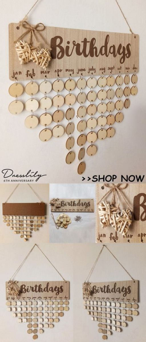 Buy 2 Get 15 Off Birthday Calendar Diy Wooden Reminder Board