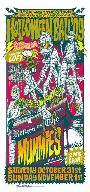 """MUMSP-02 """"MUMMIES JAPAN TOUR"""" Silk Screen Poster"""