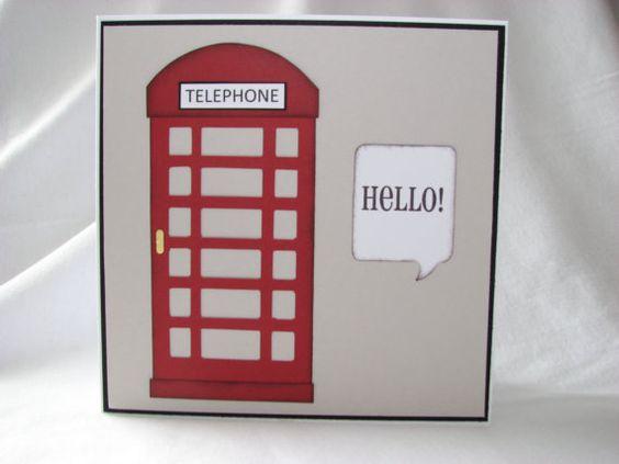 handcrafted card greeting card hello british card by kraftedbyjak