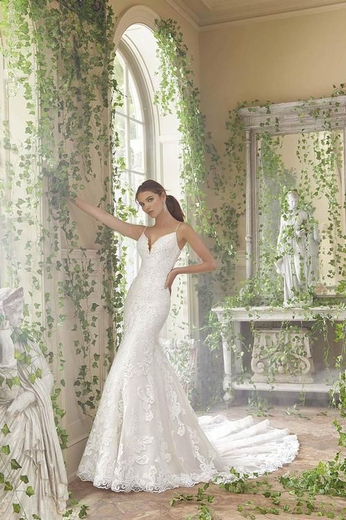 Mori Lee 5702 Fitted Wedding Dress Designer Wedding Dresses Lace Bridal Gown