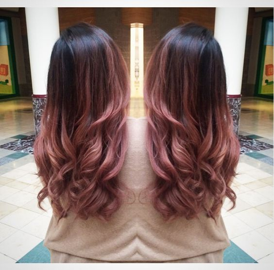Rose gold ombre, Dark brown and Highlights on Pinterest