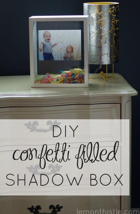 Diy Confetti Filled Shadow Box Shadow Box Shadows And