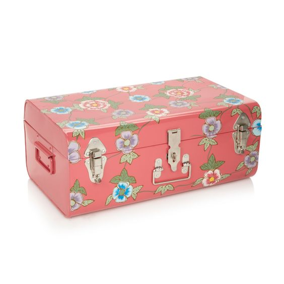 Butterfly Home by Matthew Williamson Designer large pink painted trunk- at Debenhams.com