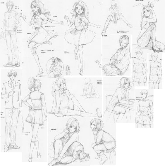 Hair accessories and expressions 4 by ~FVSJ on deviantART
