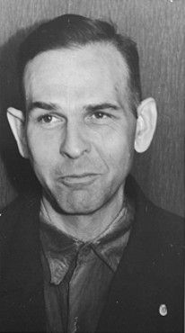 Amon Goeth shortly before his execution. Goeth was the SS psychopathic killer commanding the Plaszow concentration camp in Poland. He was executed in September 1946 not far from his former command. He was a central character in the Spielberg film Shindler's List.