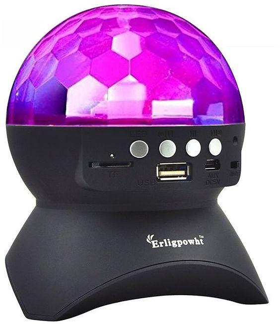 Rotating Disco Ball Light with Wireless Bluetooth Speaker $6.99 (amazon.com)