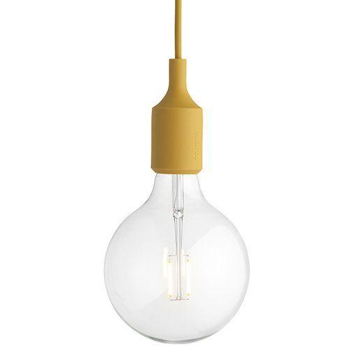 Muuto E27 Led Socket Lamp Mustard Buy Pendant Lights Pendant Lamp E27 Lights