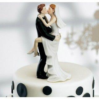Bride and Groom Custom Kissing Couple Wedding Cake Top Figurines #wedding #caketopper #daisydays