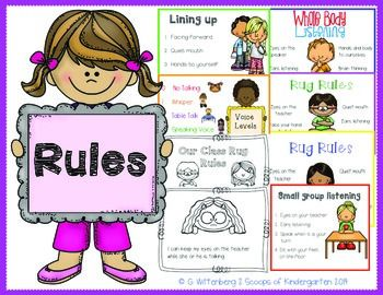 Class Rules amp Procedures Posters With Student Rug
