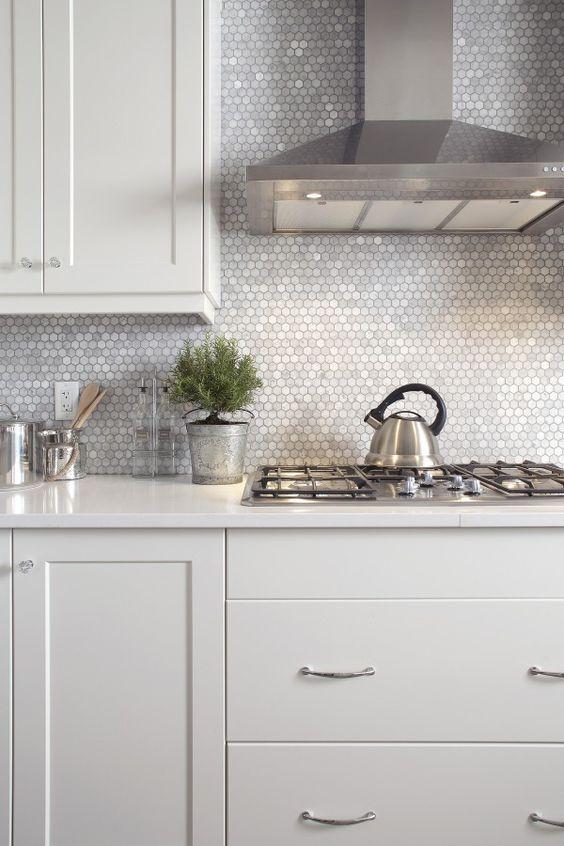 Hexagon Tile Bathroom Ideas Kitchen Design Kitchen Backsplash Designs Modern Kitchen Backsplash Kitchen Splashback