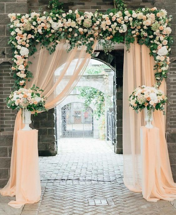 Wedding Drapery Latar Belakang Pernikahan Ide Perkawinan Dekorasi Pernikahan
