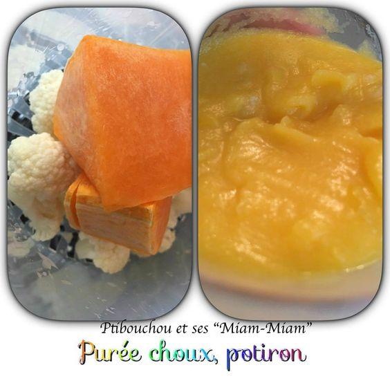 Diversification / Purée Chou-fleur, potiron - à/p de 4 mois