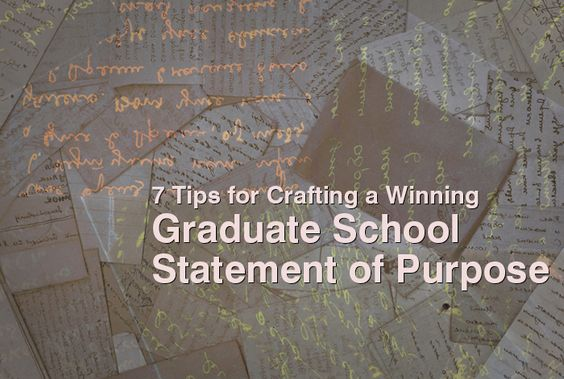 how to write a grad school statement of purpose