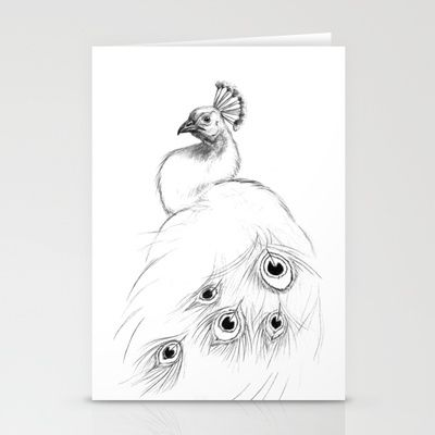 Peacock  SK097 Stationery Cards by S-Schukina - $12.00
