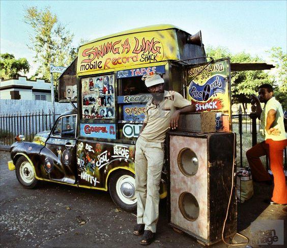 Mobile record store in Kingston, Jamaica.