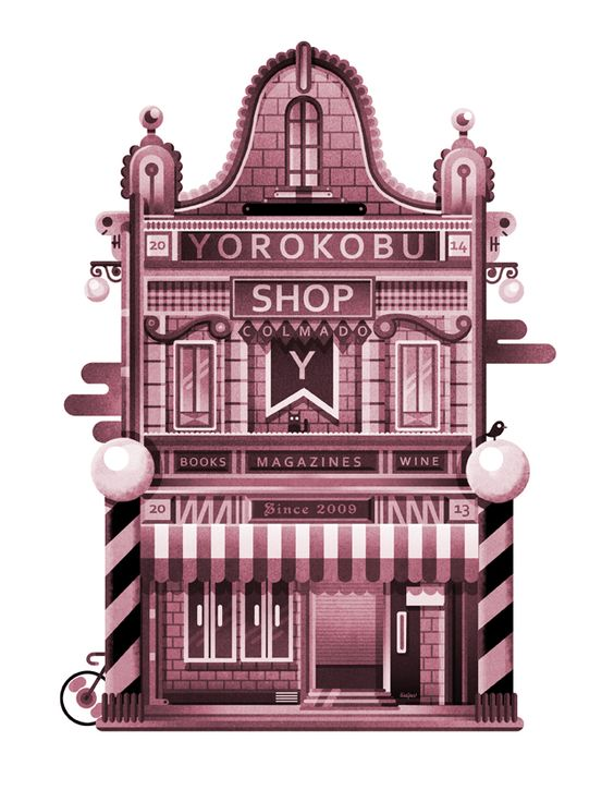 Hice este dibujo para el calendario de Yorokobu 2014. Cual bombero despelotado, soy el mes de septiembre.