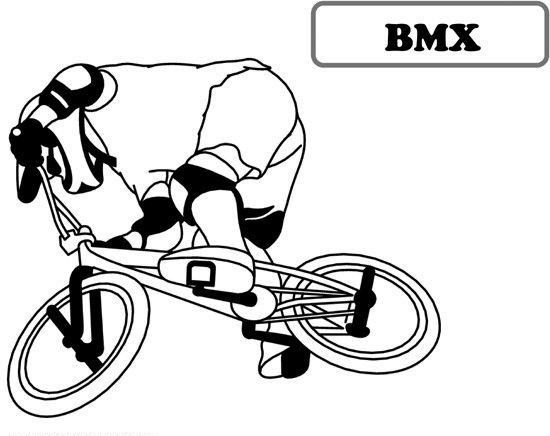 Bmx Bicycle Coloring Sheet Coloring Pages Bicycle Drawing Bmx