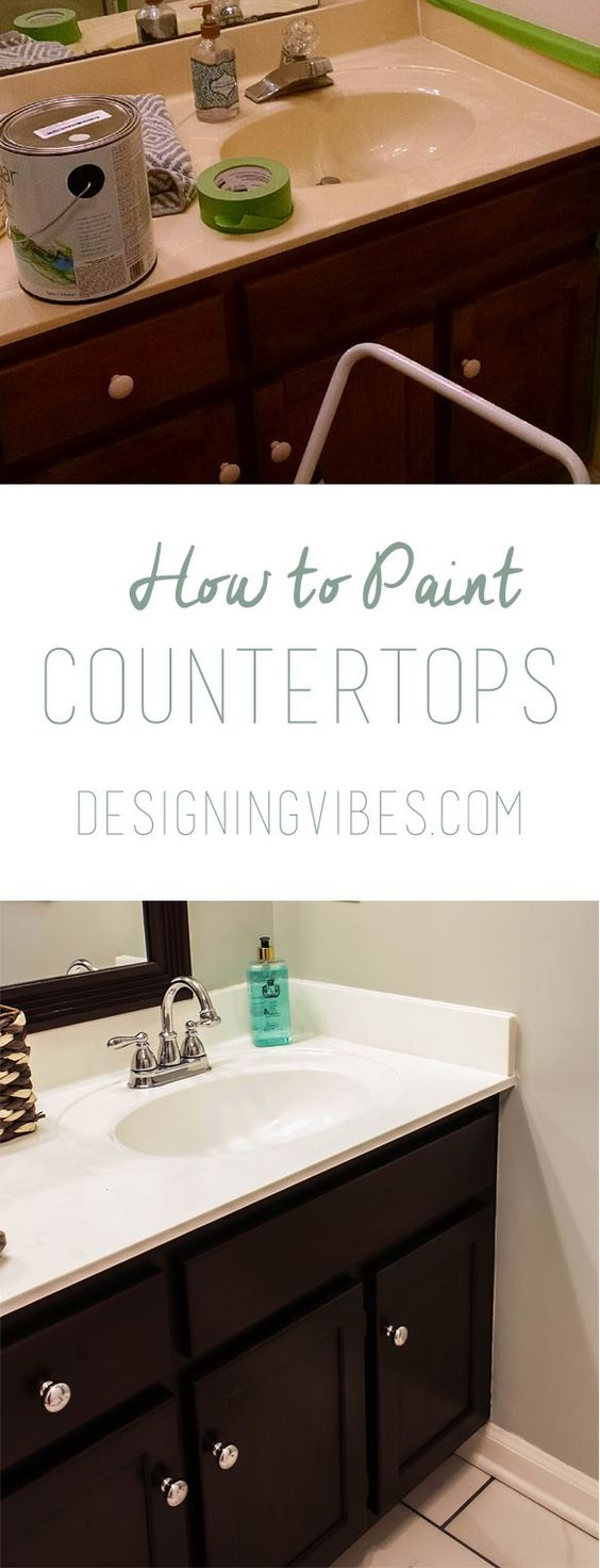 ... to paint, Countertops and Painting bathroom countertops on Pinterest