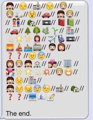 The Fault in Our Stars told with emojis  whoever did this is awesome