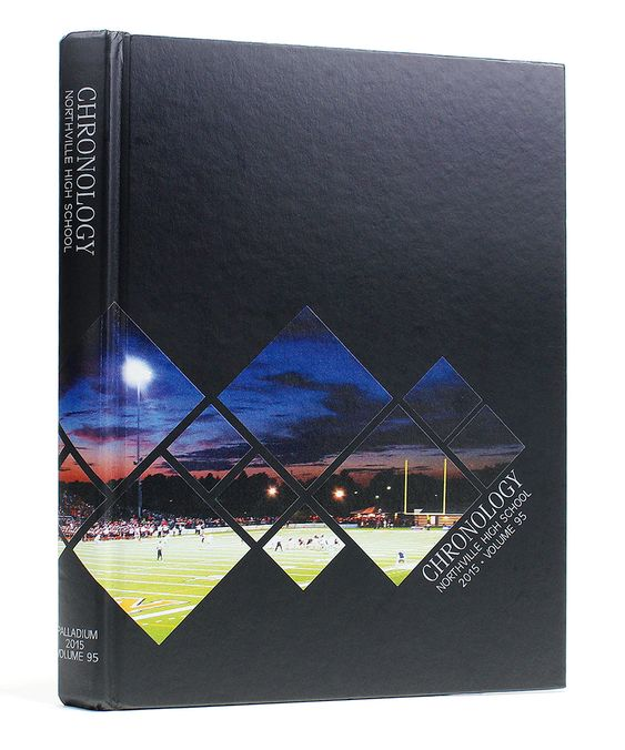 Northville High School | 2015 Yearbook Cover | Black & White Cover Inspiration | Printed by Herff Jones