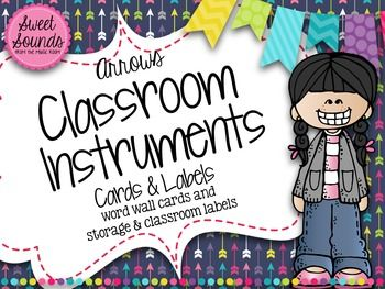 Classroom Instrument Word Wall Cards And Labels