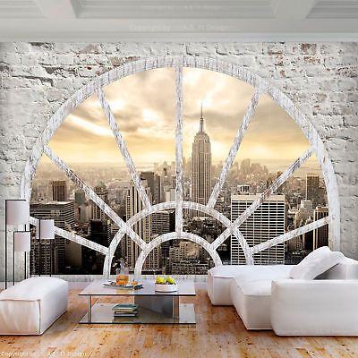 VLIES FOTOTAPETE Steinwand New York 3D effekt TAPETE ...
