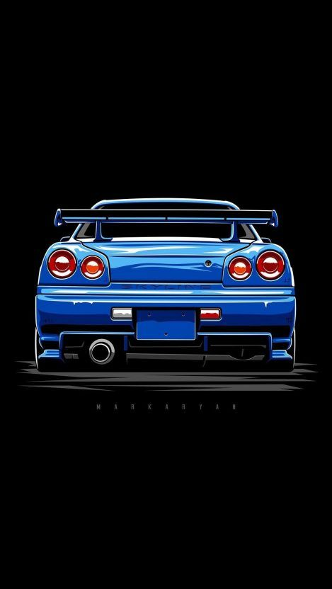 Nissan Skyline Blue Iphone Wallpaper Iphone Wallpapers Nissan Skyline Skyline Gtr R34 Skyline Gtr