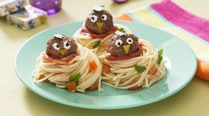 Recette plat rigolo boulettes de viande au fromage Kiri® - les oisillons Kiri® avec Kiri®
