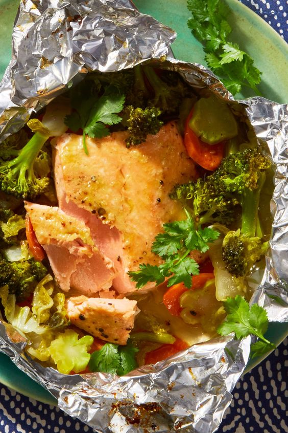 Cilantro-Lime Salmon Foil Packs