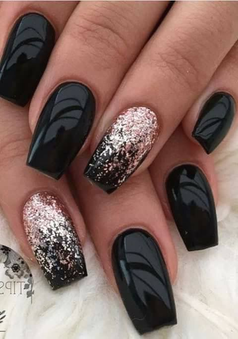 125 Gorgeous Black Nail Arts Designs In 2019 Pinningfashionpinningfashion Trendy Nails Matte Nails Design Pretty Nails