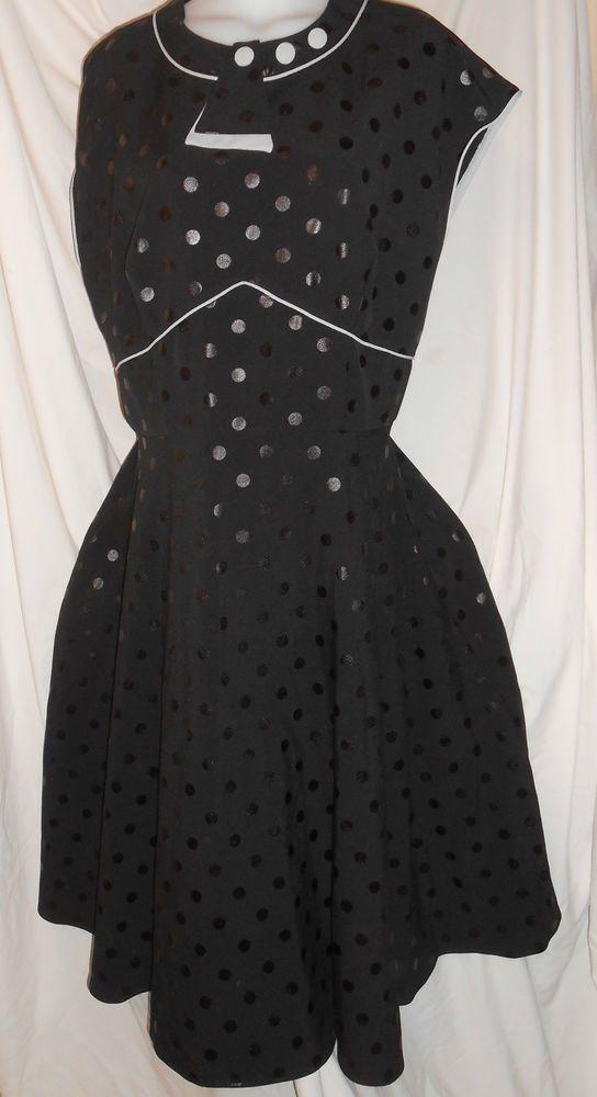 New Stop Staring Alicia Estrada Dress Women's Black Polka Dot Size 2 XLarge #StopStaring