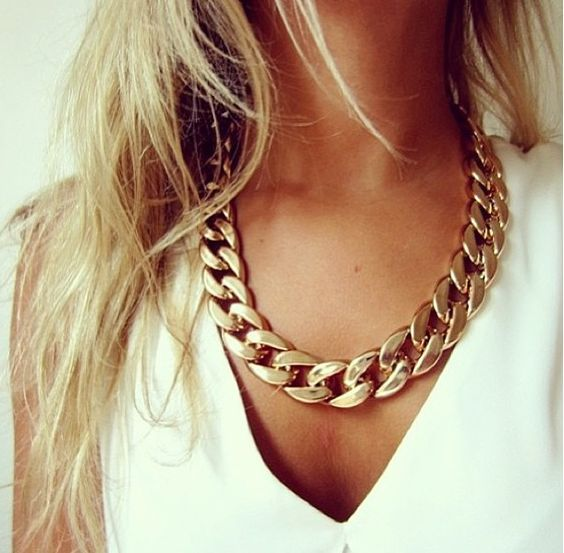 Chunky gold chain necklace - get a similar necklace from Ava Adorn