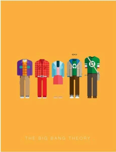 The big bang theory minimalist poster embrace geekness for Minimalist architecture theory