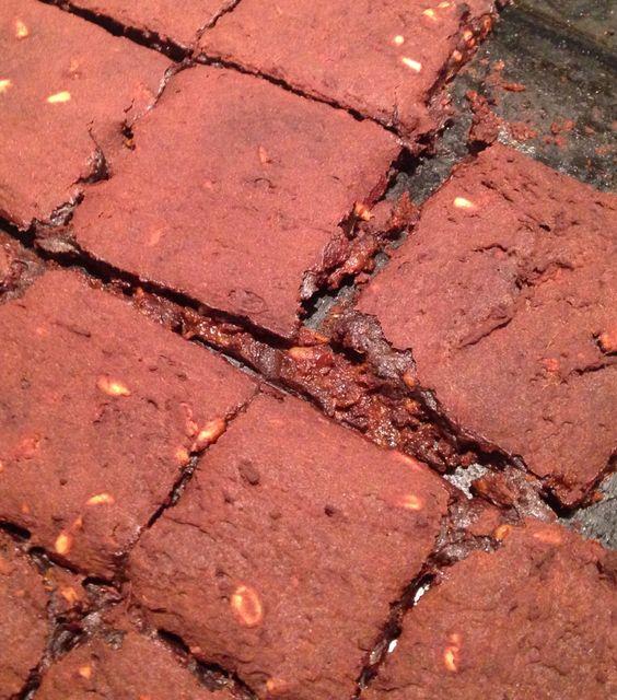 Ultra thin sweet potato brownies