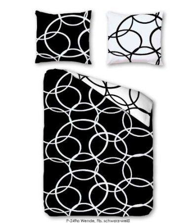 kreise schwarz wei hochwertige baumwoll satin. Black Bedroom Furniture Sets. Home Design Ideas