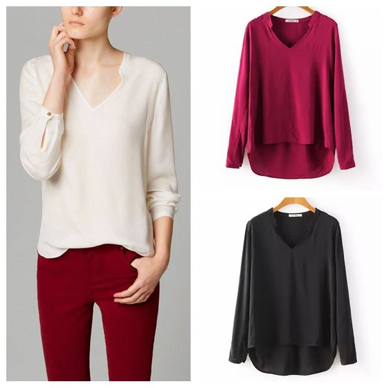 free shipping new arrival European style solid color cotton V-neck pullover women blouse OL/Casual Female Tops Clothing Shirt - http://www.aliexpress.com/item/free-shipping-new-arrival-European-style-solid-color-cotton-V-neck-pullover-women-blouse-OL-Casual-Female-Tops-Clothing-Shirt/32278502161.html