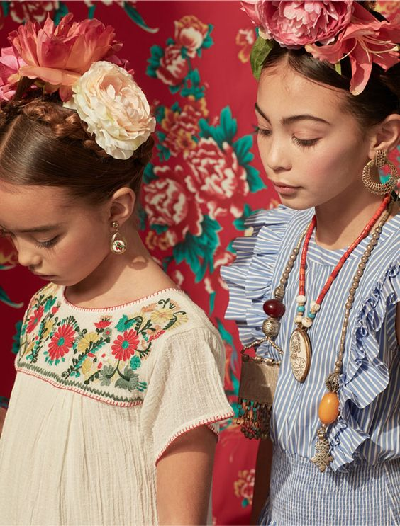 Ladida, children's fashion boutique. Frida Kahlo inspired campaign