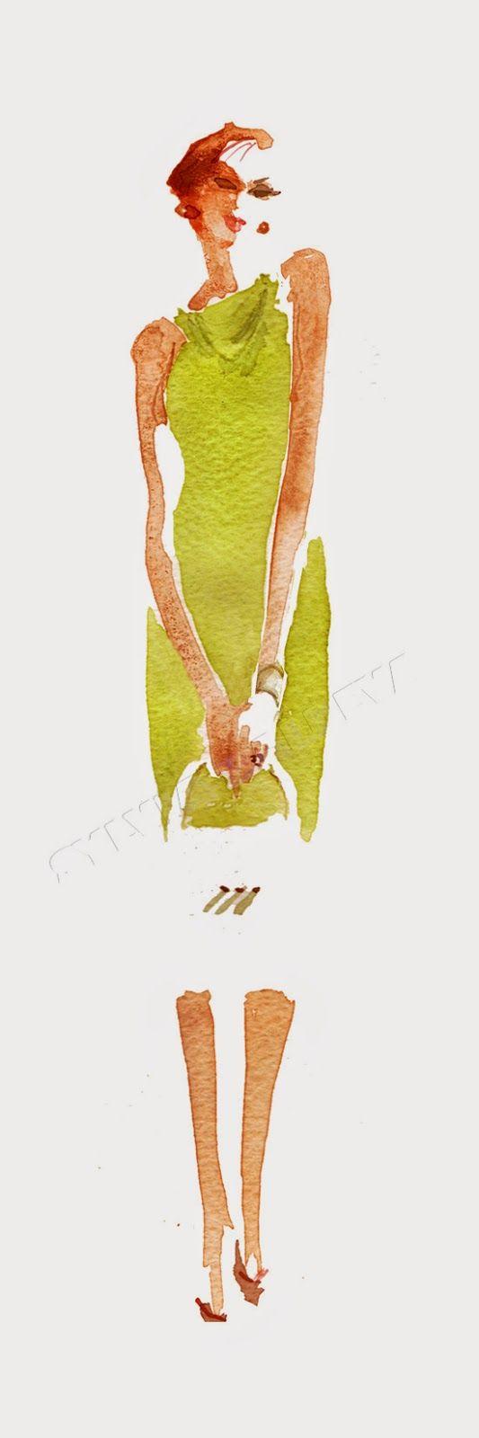 Illustration de Mode - Sylvia Baldeva: Illustration de Mode - Fashion⦠                                                                                                                                                                                Plus
