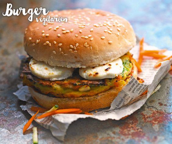 Un #burger spécial végétarien: une recette au #chèvre.