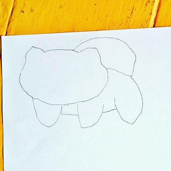 Bisasam zeichnen