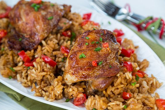Chicken and Rice- Love it!! Adobo is cooked mainly with soy sauce ...