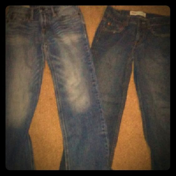 Boys size 12 jeans Abercrombie & fitch & wranglers in excellent condition Abercrombie & Fitch Jeans Boot Cut