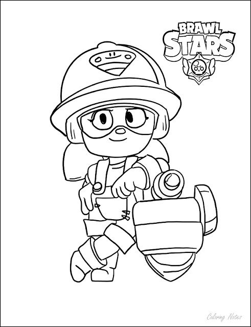 Brawl Stars Coloring Pages Jacky Star Coloring Pages Coloring Pages Color
