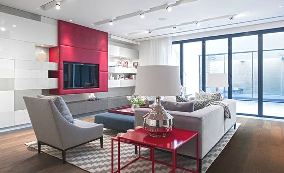 Contemporary Great Room with Bernhardt upholstered accents lancaster chair w/ tapered legs at sheids home furnishings