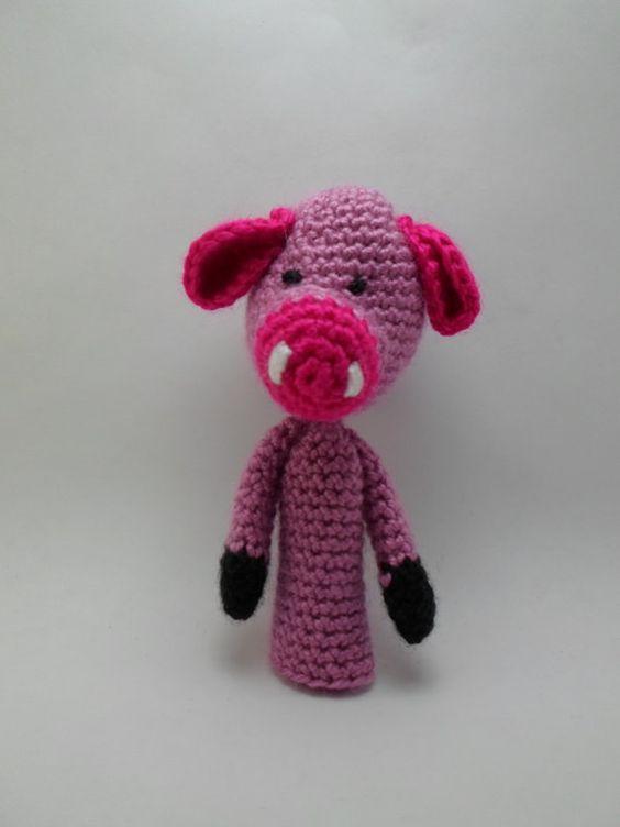 Amigurumi Pattern Crochet PDF - finger pig puppet | Patrones ...