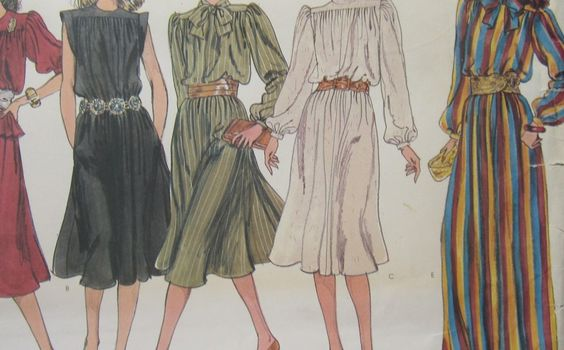 Uncut Vintage Vogue Basic Design Pattern 2965 MIsses Dress Top Skirt Size 6 8 10 $3.75